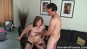 CHUBBY GRANNY HUMAN RESOURCES 3SOME XXX Porn