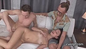 Bankrupt guy lets nasty buddy to fuck his ex-girlfriend for money XNXX