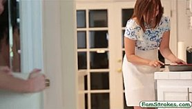 Jessica Rex banged by her stepdad while mom preparing dinner