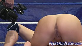 Amazing lezzies wrestling before pussytoying