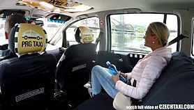 Czech Blonde Rides Taxi Driver in the Backseat Free Porn