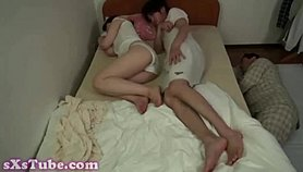 mom dad sleeping i look her tits part 4 Free Sex
