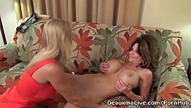 Mature Milf Deauxma call Lesbian Escort to Come Fuck Her! XXX Porn