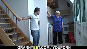 He easily seduces old grandma Xnxx.com