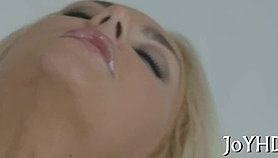 Sexy blonde chick fucked apart by a rich dude