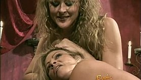Stacked blonde bimbo gets spanked while a caged slut watches XXX Porn