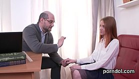 Nice bookworm gets seduced and poked by her elderly schoolteacher XNXX