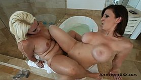 Sara Jay & Bedeli Buttland in the Shower (Lesbian)