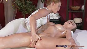 Massage Rooms Horny redhead lesbian has fun with hot and naughty Lithuanian