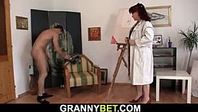Granny games with an young guy